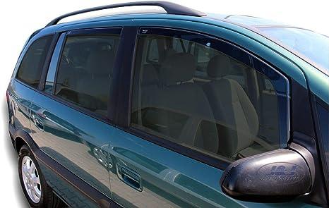 J/&J AUTOMOTIVE Deflecteurs dair D/éflecteurs de Vent Compatible avec Opel Zafira C Tourer 5 Portes 2012-pr/és 4pcs