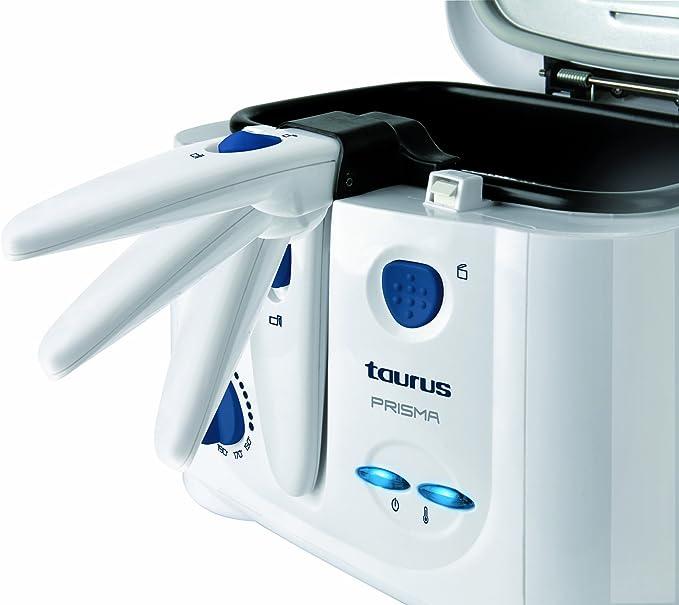 Pl/ástico Color blanco 1.2 kg Taurus Prisma Freidora
