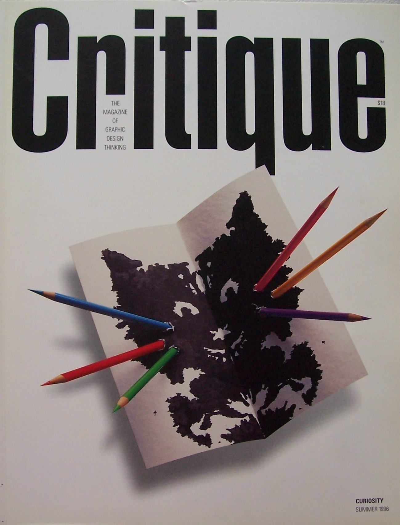 critique the magazine of graphic design thinking curiosity the inaugural issue number 1 summer 1996