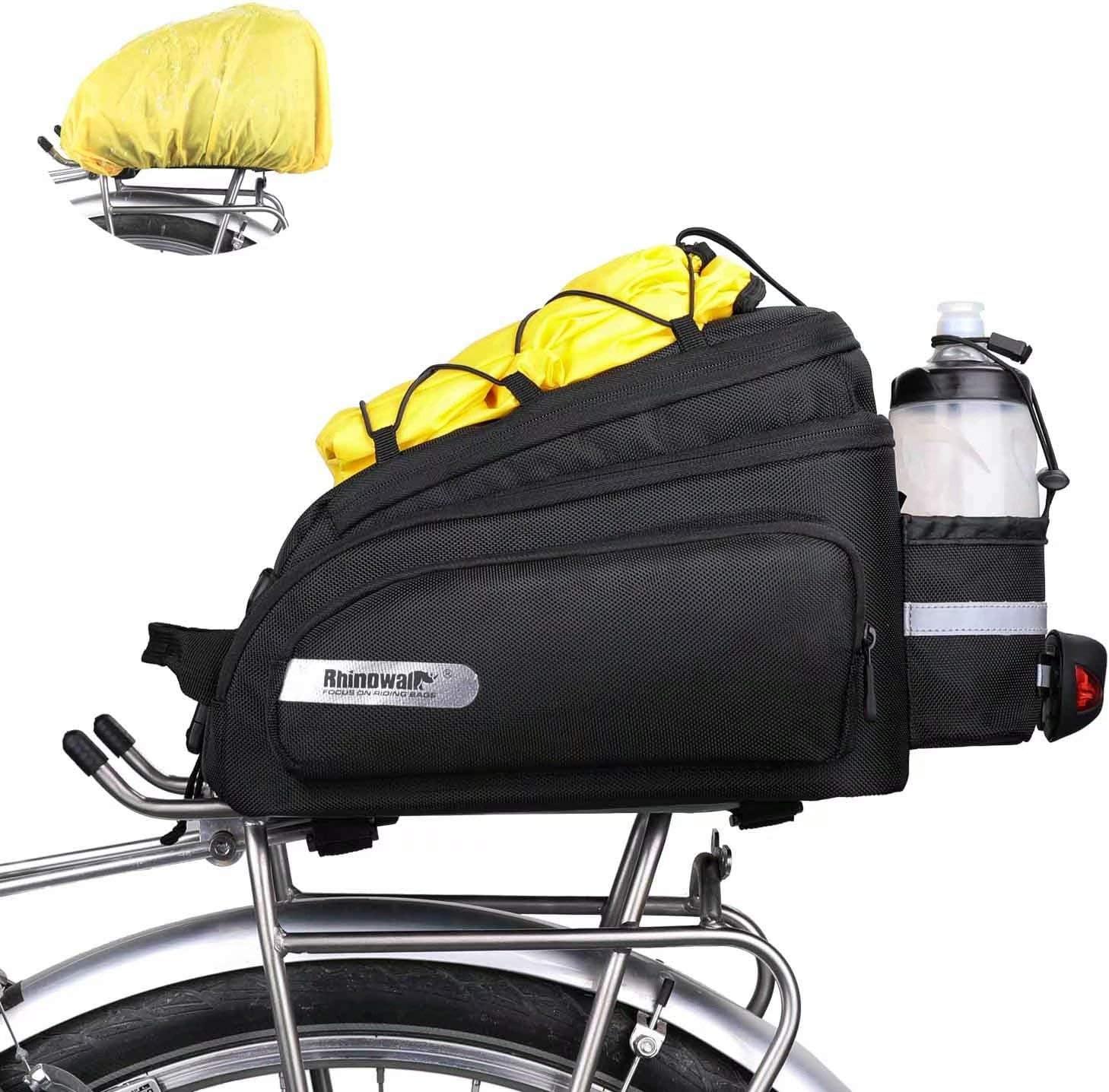 LOCALLION 12L Bike Trunk Bag Bicycle Rack Bag Bike Rear Seat Cargo Bag Bicycle Rack Trunk Panniers Bicycle Rear Rack Storage Luggage