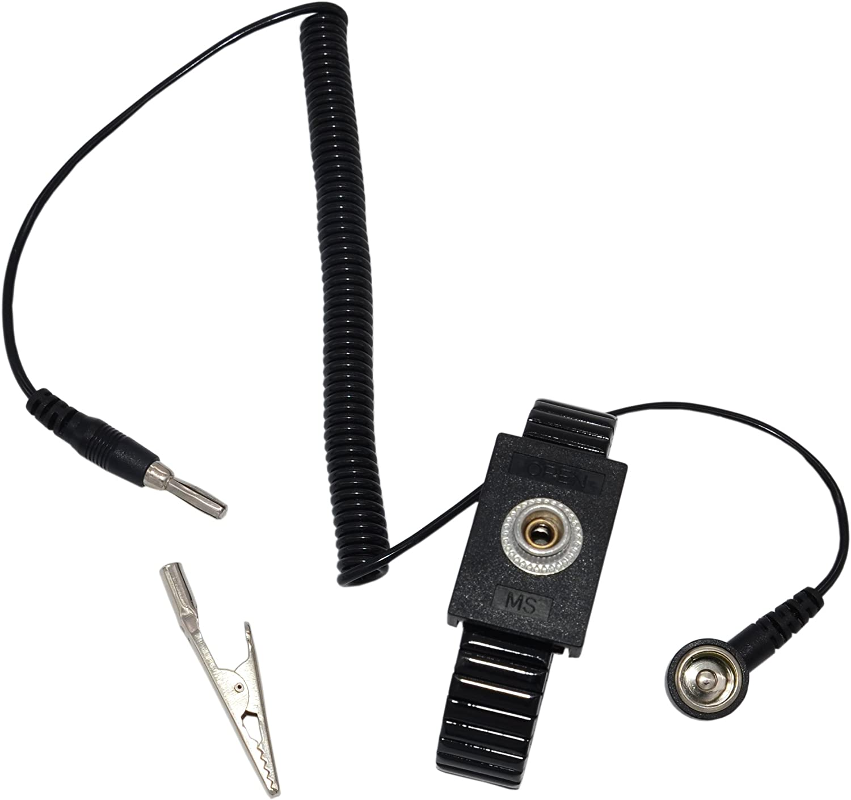 Maxfresh Metal Anti-Static Adjustable Grounding Wrist Strap