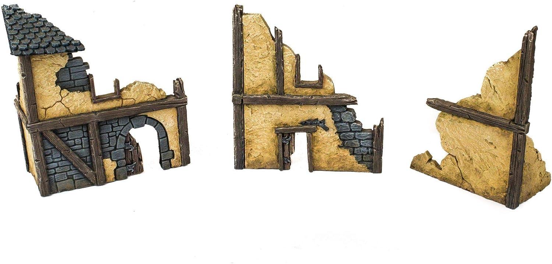 Wargaming Terrain Desert Empire Guard Tower Prepainted 25mm 28mm Wargaming Scenery with Lamassu Guard Statues!