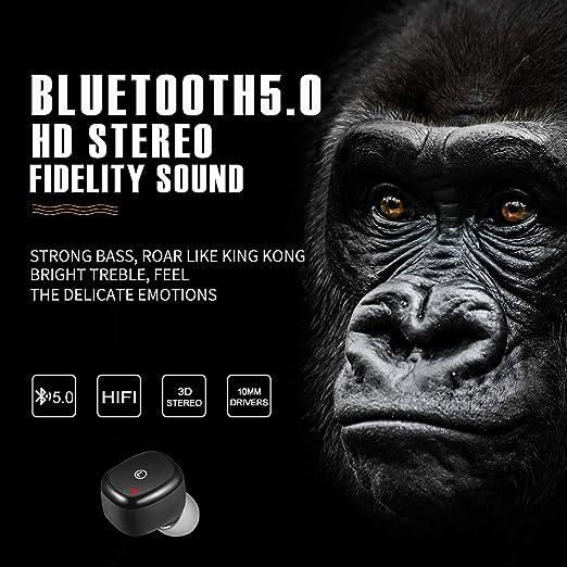 Auriculares inalámbricos Bluetooth AIZBO TWS True Wireless con caja de carga magnética portátil IPX5 a prueba de sudor, auriculares Bluetooth invisibles ...