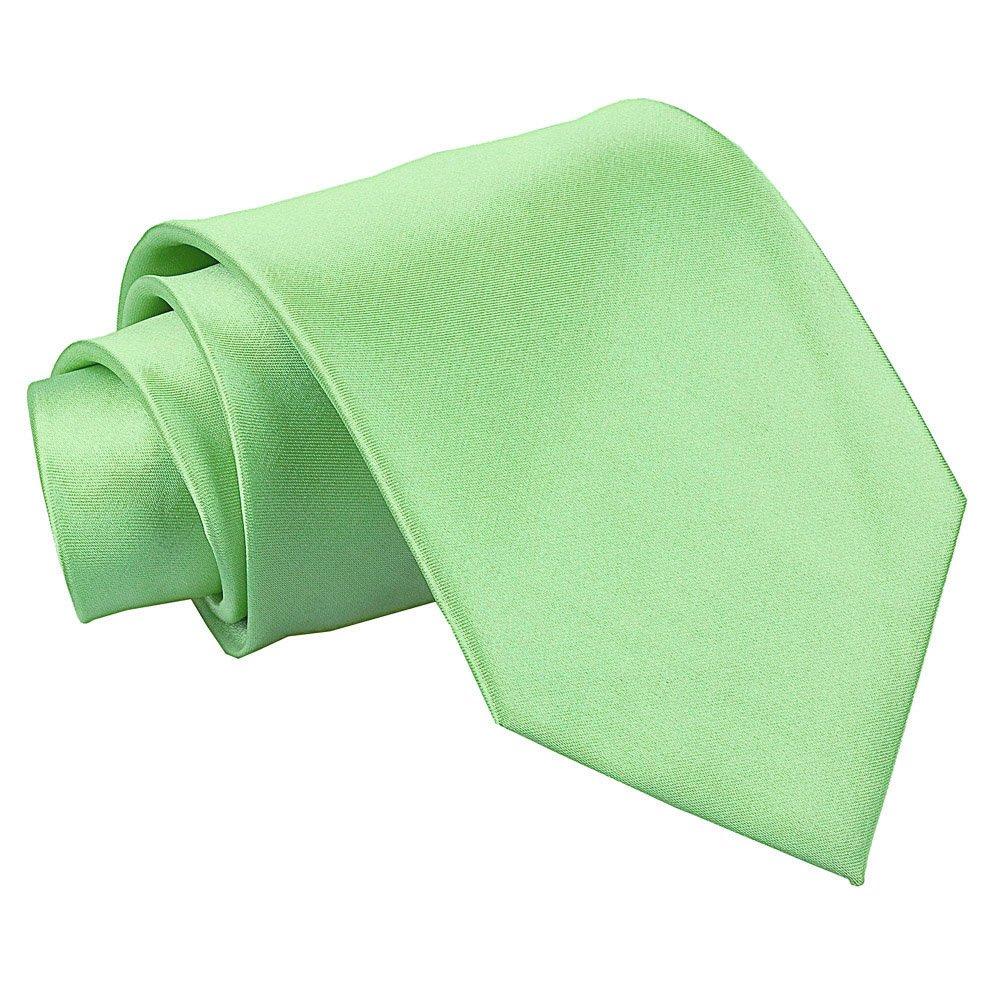 Nueva corbata de caballero extralarga lisa de satén DQT - Verde ...