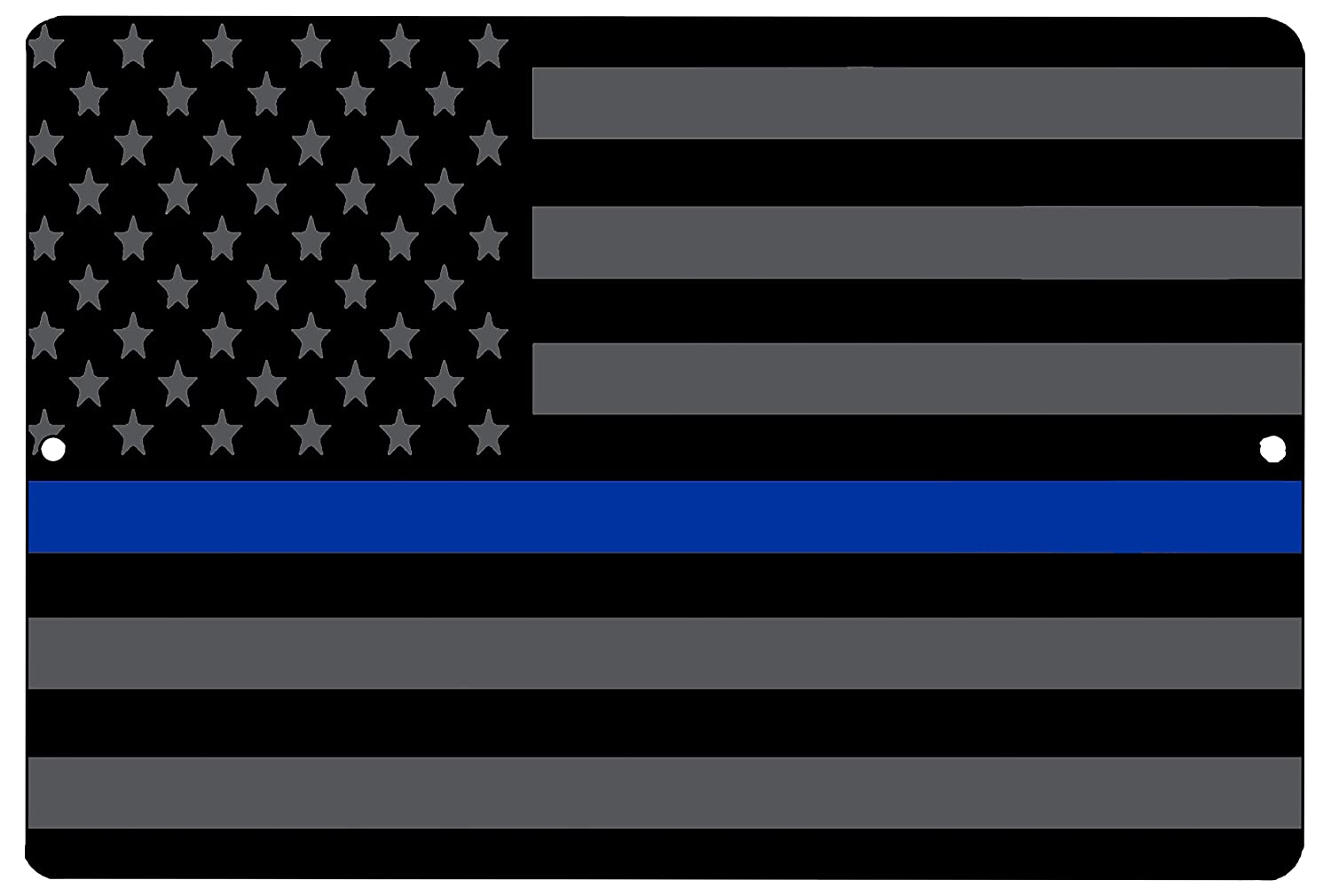 Blue Lives Matter Flag Metal Tin Sign Wall Decor Man Cave Bar Police Officer Thin Blue Line