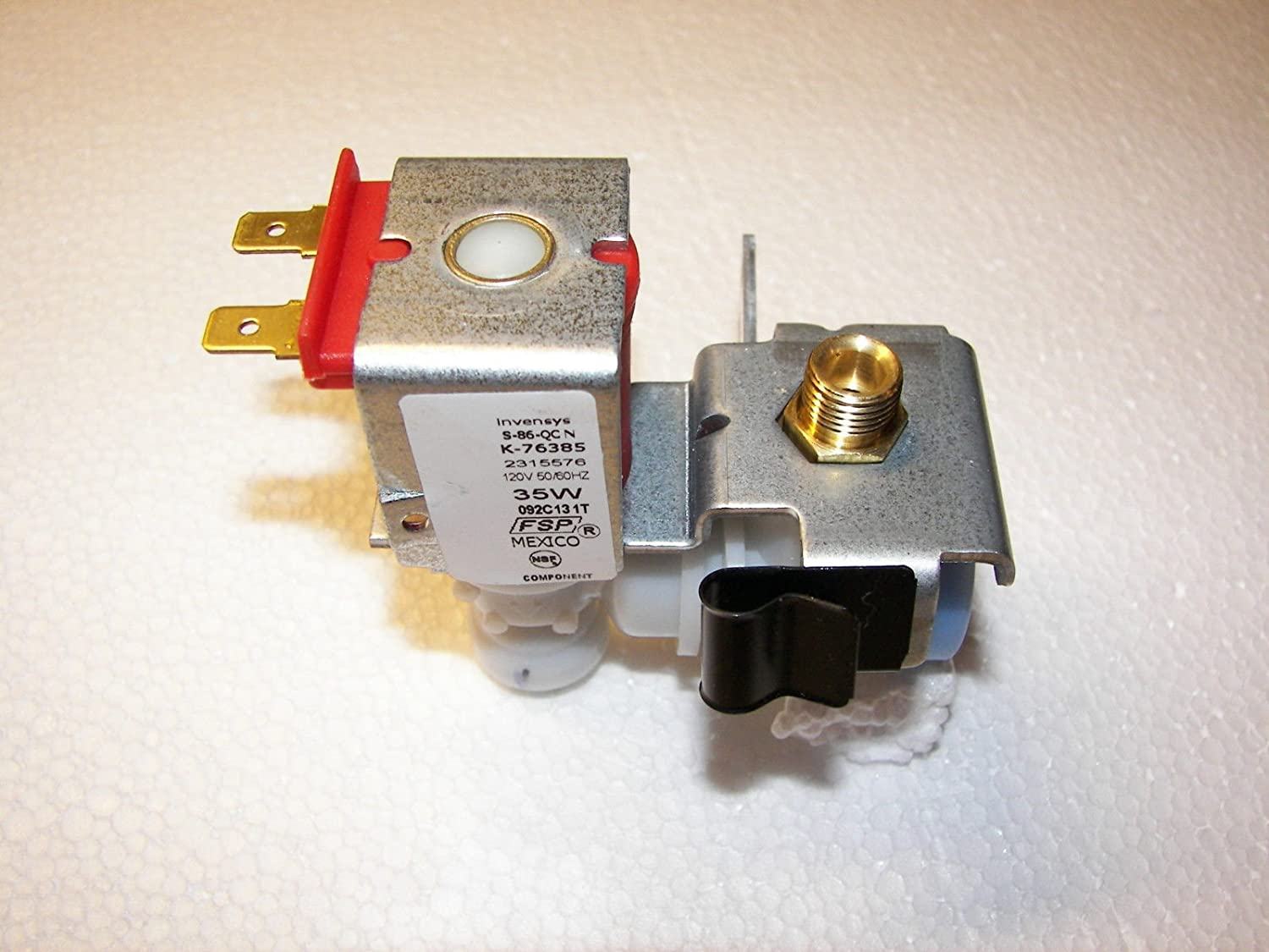 FSP Invensys Universal Refrigerator Ice Maker Water Valve 2315576, S-86-QC N