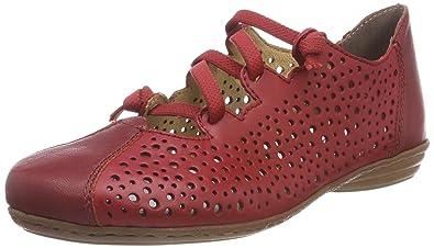 Rieker 53975, Ballerines Femme, (Rosso), 36 EU