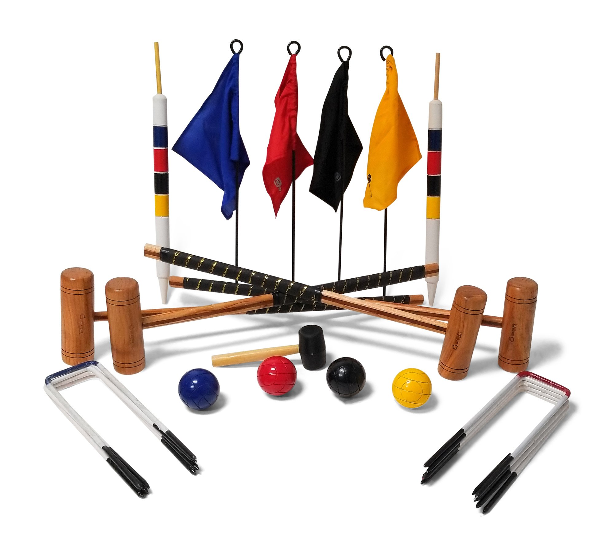 Uber Games 9 Wicket Croquet Set - Garden - 4 Player by Uber Games (Image #1)