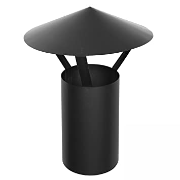 Raik 130120013 Rauchrohr 150mm Regenhaube Fal Schwarz Amazon De