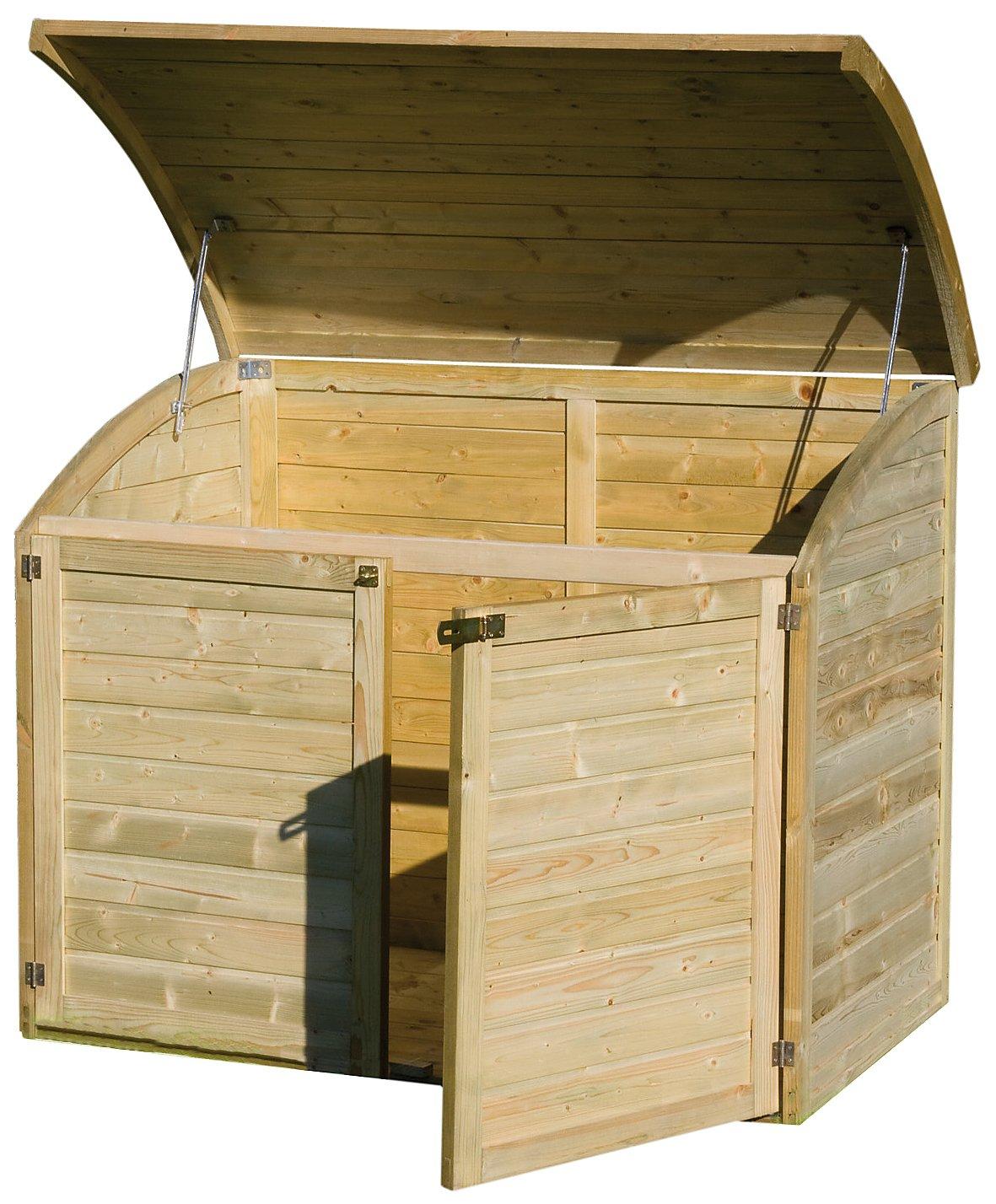 Coffre de rangement pour le jardin en bois TOPAZE 1000 L: Amazon ...