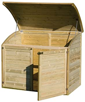 Coffre de rangement pour le jardin en bois TOPAZE 1000 L: Amazon.fr ...