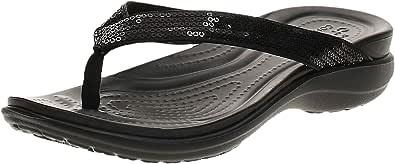 Crocs Capri V Sequin, Sandalias Flip-Flop Mujer