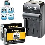 Baxxtar RAZER 600 Ladegerät 5 in 1 + 2x Patona Akku für -- Canon NB-12L -- passend zu Canon LEGRIA mini X / VIXIA mini X / PowerShot G1 X Mark II usw. (70% mehr Leistung 100% mehr Flexibilität) NEUHEIT mit Micro-USB Eingang und USB-Ausgang, zum gleichzeitigen Laden eines Drittgerätes ( iPhone, Tablet, Smartphone..usw.)