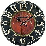 Eruner 14-inch Vintage Large *Hotel Du Monde* Decorative Wall Clock (C-20)
