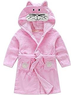 Amazon.com  BYXA Toddler Kids Cat Bathrobes Kitten Robes Ultra Soft ... b7ef259ed