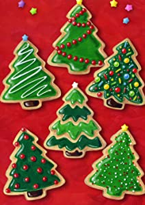 Toland Home Garden Christmas Cookies 12.5 x 18 Inch Decorative Holiday Cookie Dessert Tree Garden Flag