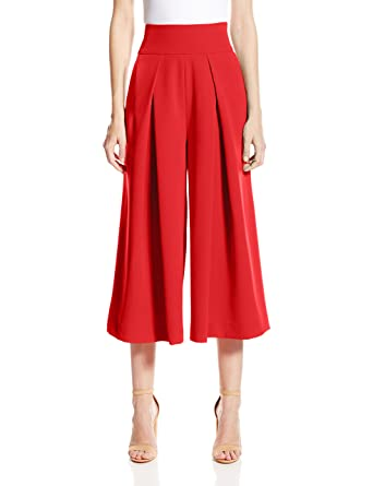 Amazon.com: MILLY Women's Italian Cady Culotte Pant with Front Pleating:  Clothing
