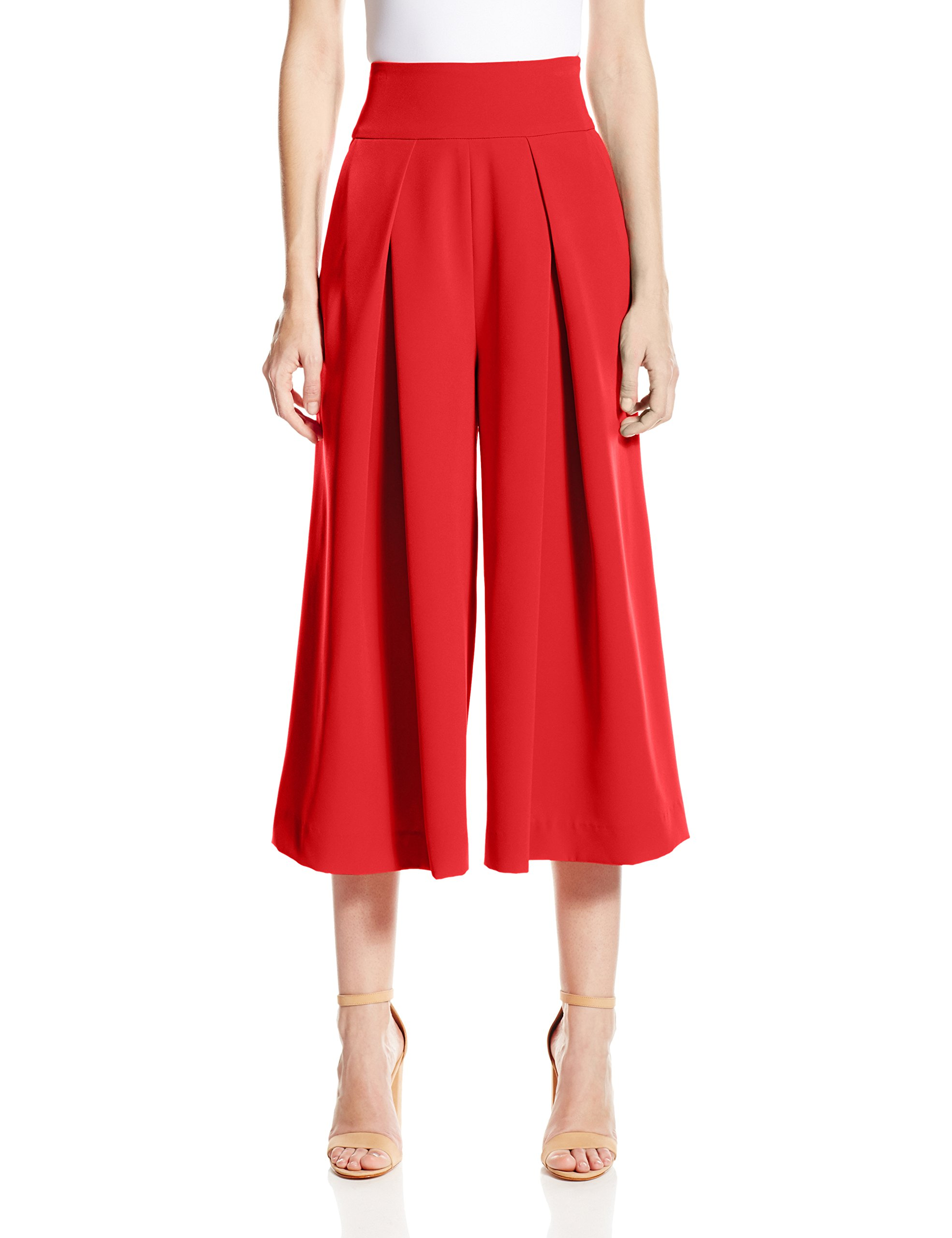 Milly Women's Italian Cady Culotte, Flame, 12