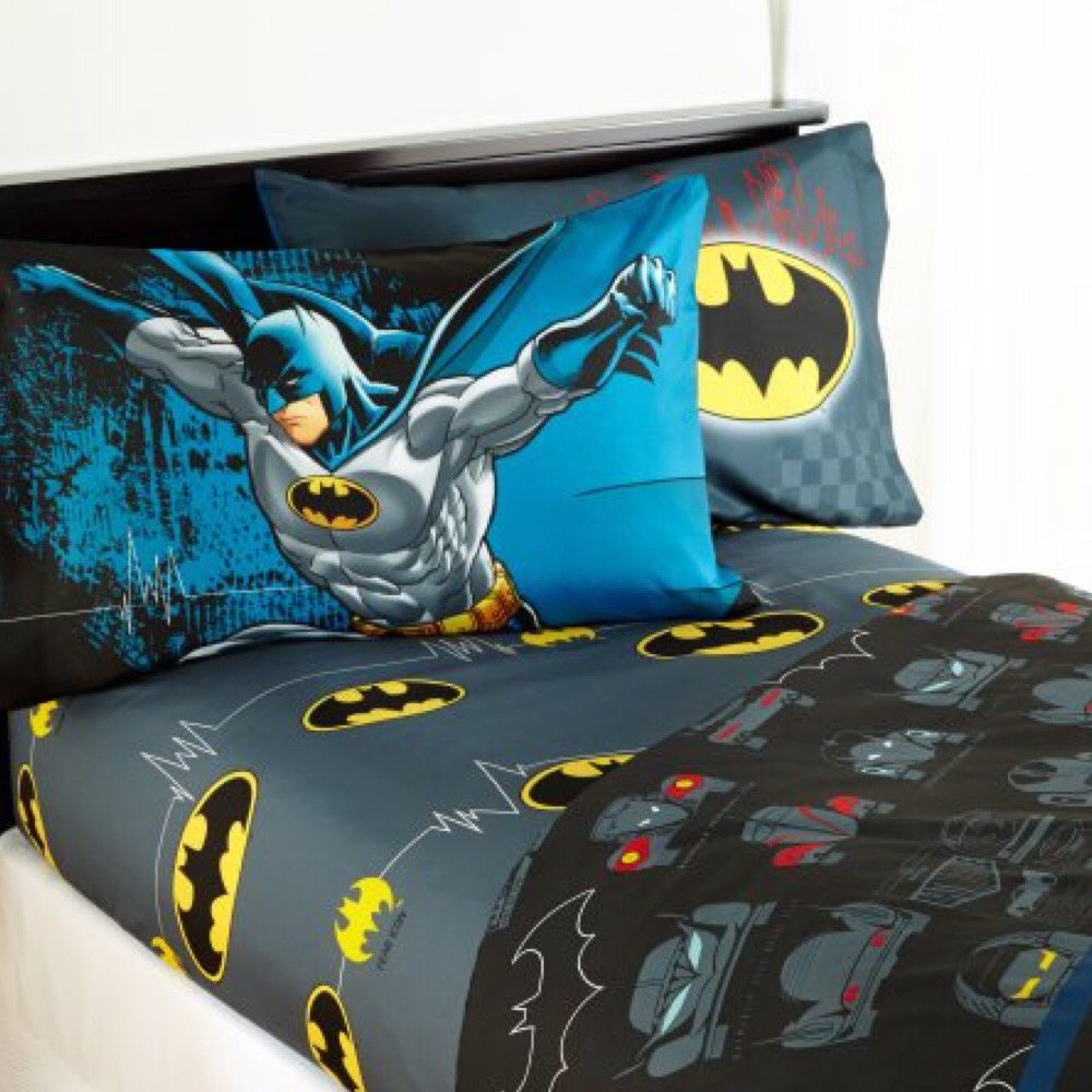 Batman The Dark Knight Kids Full Bedding Sheet Set