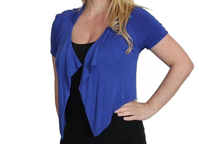 finest selection f2416 06a6b Rinascimento Giacca cardigan coprispalle donna blu elettrico ...