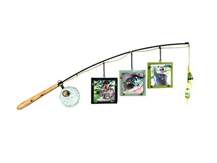 Amazon.com - Young\'s Wood Fishing Pole Triple Picture Frame, 4\