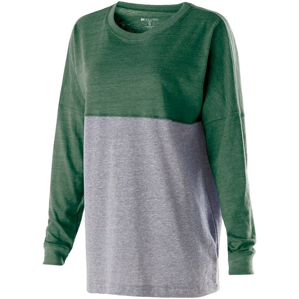 Holloway Juniors Low Key Pullover (X-Small, Vintage Forest/Vintage Grey)