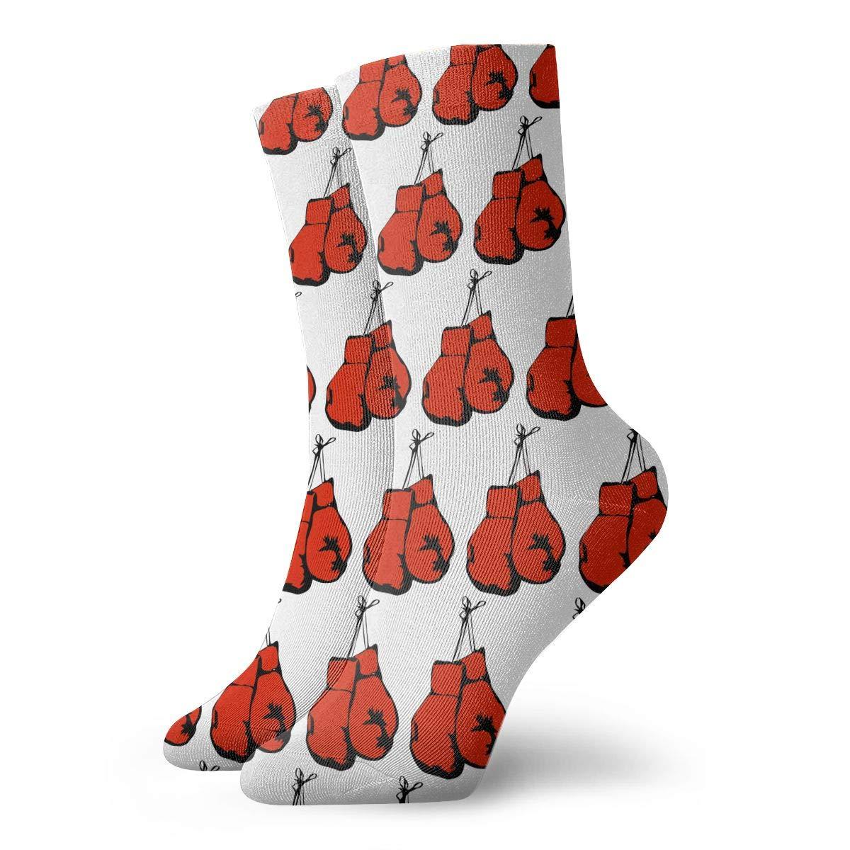 Boxing Gloves Fashion Short Crew Sock Athletic Ankle Dress Sock One Size For Men/&Women