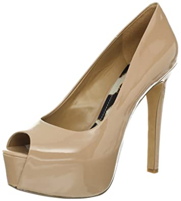 1276cf710b Jessica Simpson Women's Carri Platform, Nude Patent, 8 Medium US
