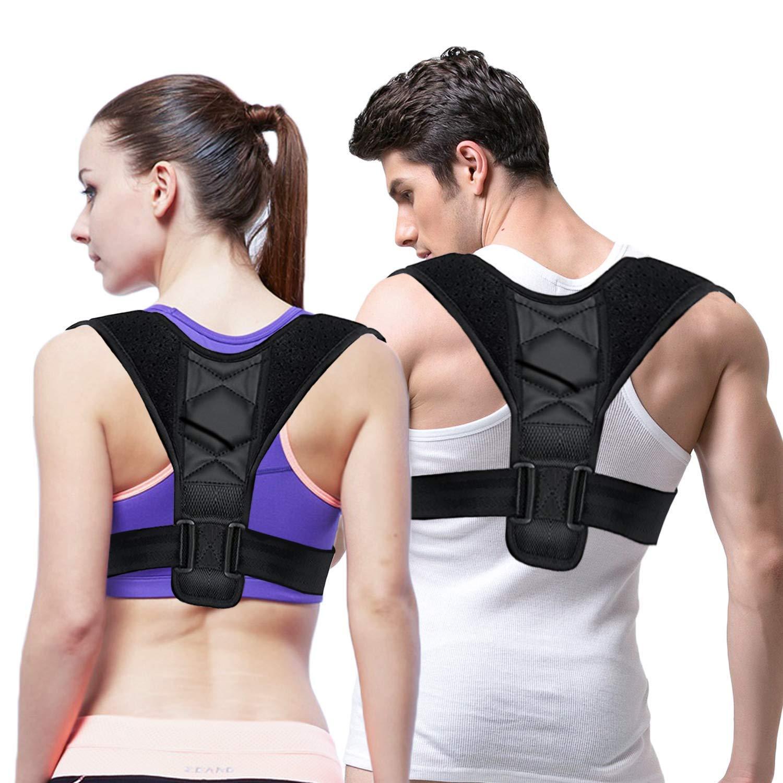 Belletek Back Posture Corrector for Women & Men - Effective/Comfortable Posture Brace/Figure corrector for Slouching & Hunching - Discreet Design - Clavicle Support- Improving Posture-Relief Back Pain