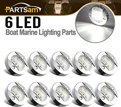 "BOAT MARINE 3/"" Diameter Stainless Steel Round Transom Mount Navigation Light"