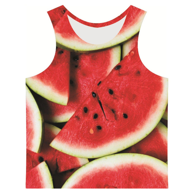 2018 Men 3D Vest Chocolate Strawberry Orange Printed Tank Tops Man Summer Creative Clothes
