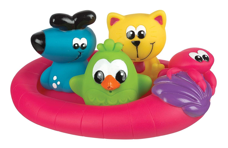Rotho Babydesign Badespielzeug-Set, 16-teilig, Ab 6 Monaten, BPA-frei, Playgro Badespielzeug Geschenkset, 40115 0182933