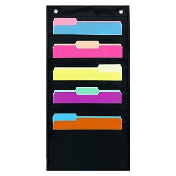 Organizador de oficina para colgar de tela, resistente organizador de suministros de oficina para libretas
