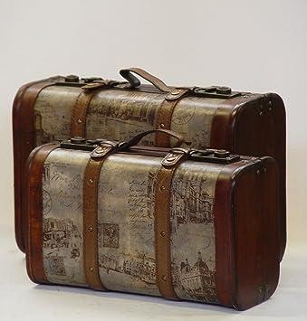 Koffer Deko amazon de deko koffer kiste box vintage retro aufbewahrung 2er set