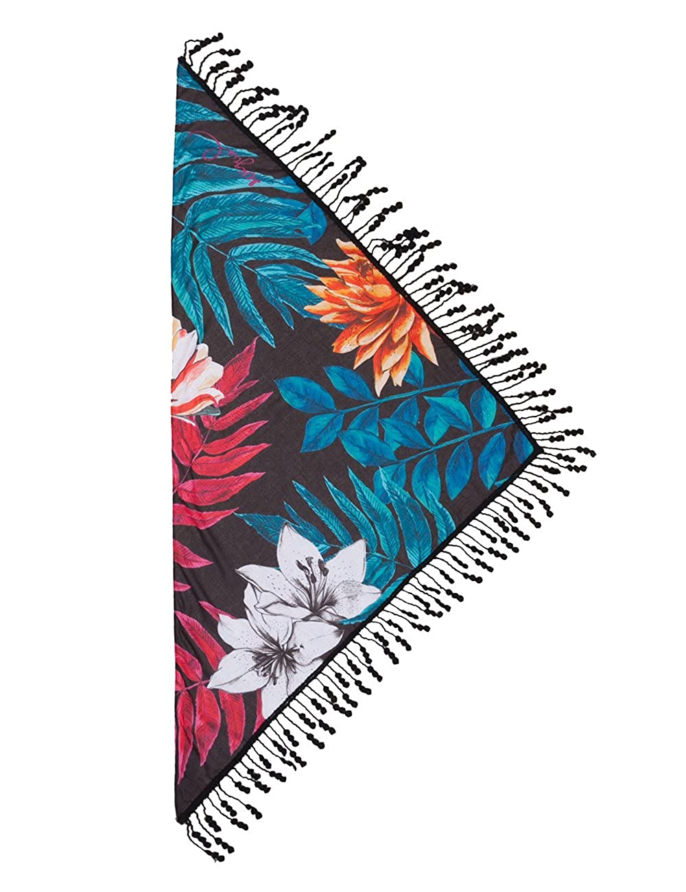 fa46c5f21e6 Desigual FOULARD TRIANG SPRING EXPLOSIO - Echarpe - Femme - Noir (Negro  2000) - Taille unique (Taille Fabricant  One size)  Amazon.fr  Vêtements et  ...