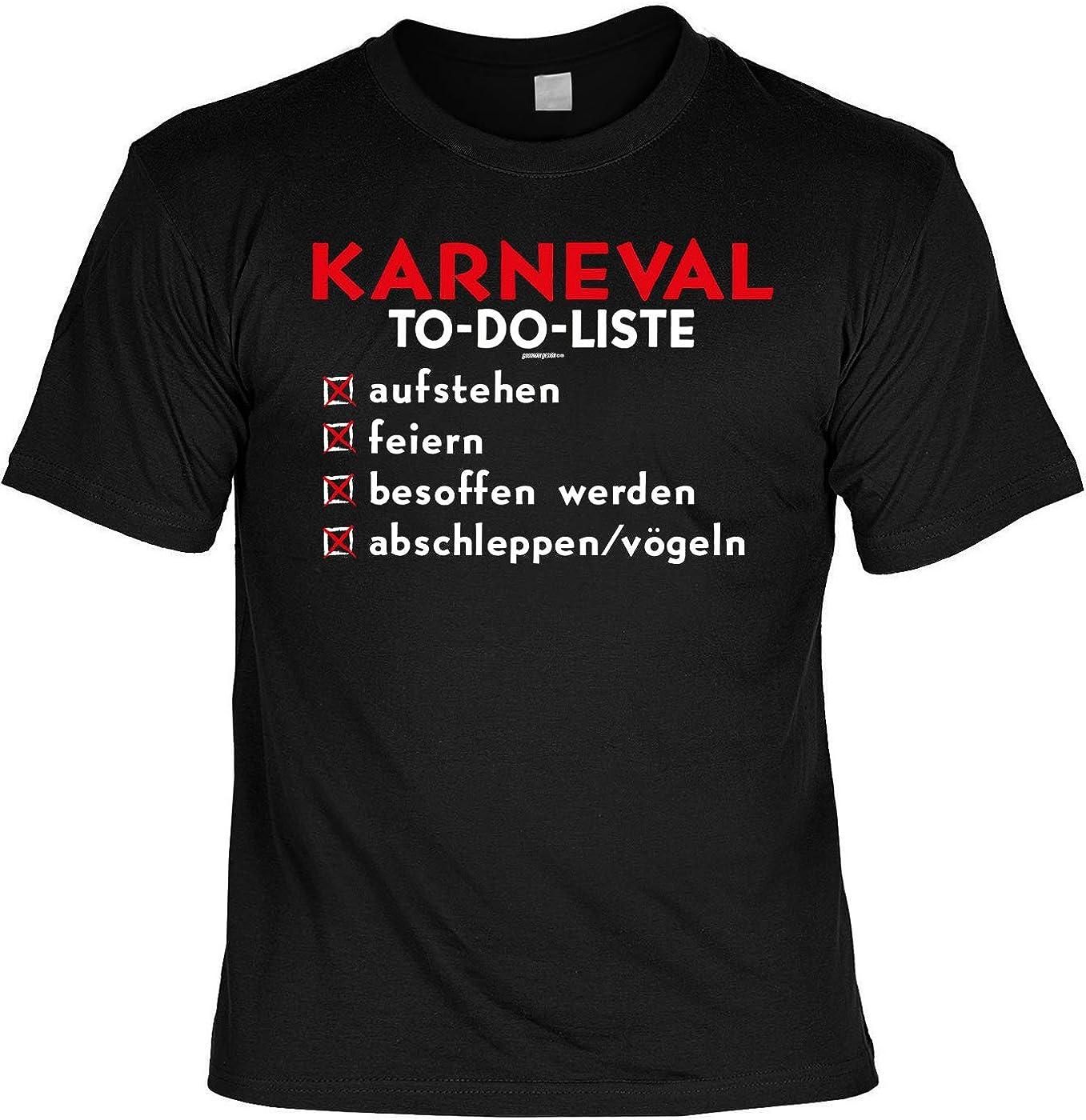 Spaß-Shirt Thema Fasching lustige Sprüche: Karneval to-Do
