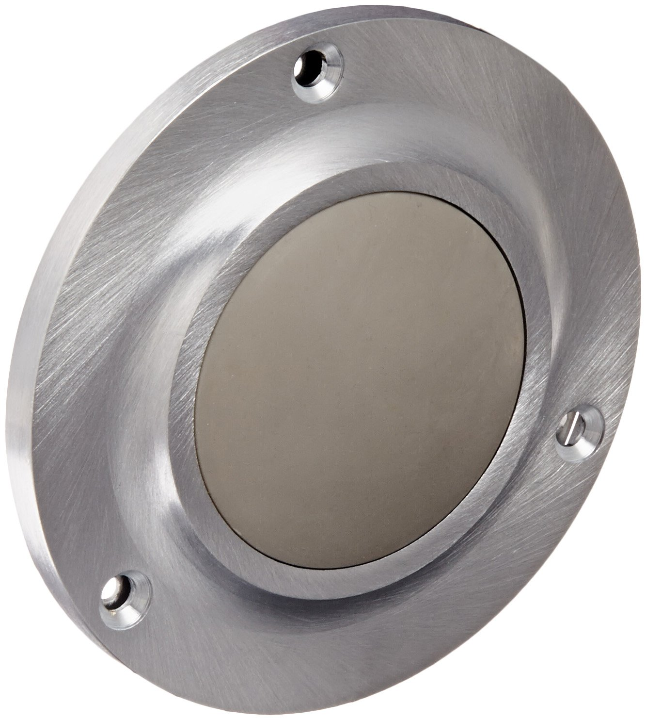Satin Chrome Plated Finish 8-32 x 2 RH MS Fastener with Toggle Bolt 4 Diameter Rockwood Manufacturing Company 8-32 x 2 RH MS Fastener with Toggle Bolt Rockwood 415.26D Brass Convex Solid Cast Wall Stop 4 Diameter