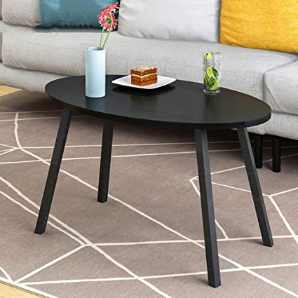 CAICOLOUR Coffee Table Simple Side Table Creative Coffee Table Size  Optional (Color : Black,