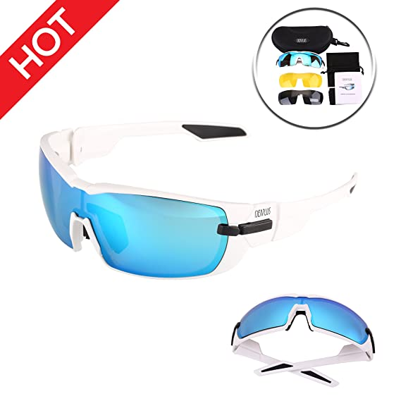 5fde437176 Image Unavailable. Image not available for. Color  IDEAPLUS Sports  Sunglasses Men Women Baseball Running Cycling Fishing Driving ...