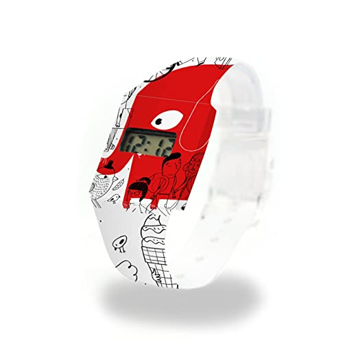 Red elefante cartón Watch/Paper Watch/Reloj de pulsera digital de Tyvek®, Absolutamente resistente y agua: Amazon.es: Relojes