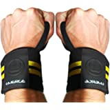 Lifting Wrist Wraps by Emerge - Durable Wrist Brace with Strong Support - Powerlifting Weightlifting Strength Training - For Men and Women