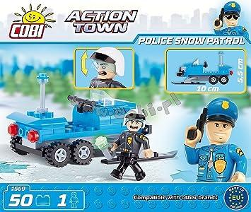 Cobi Vehículo de la patrulla de nieve de policía: Amazon.es ...