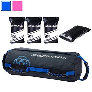 e025b4b7c9 Synergee Pro Adjustable Fitness Sandbag with Filler Bags 10-40lbs Heavy  Duty Weight Bag