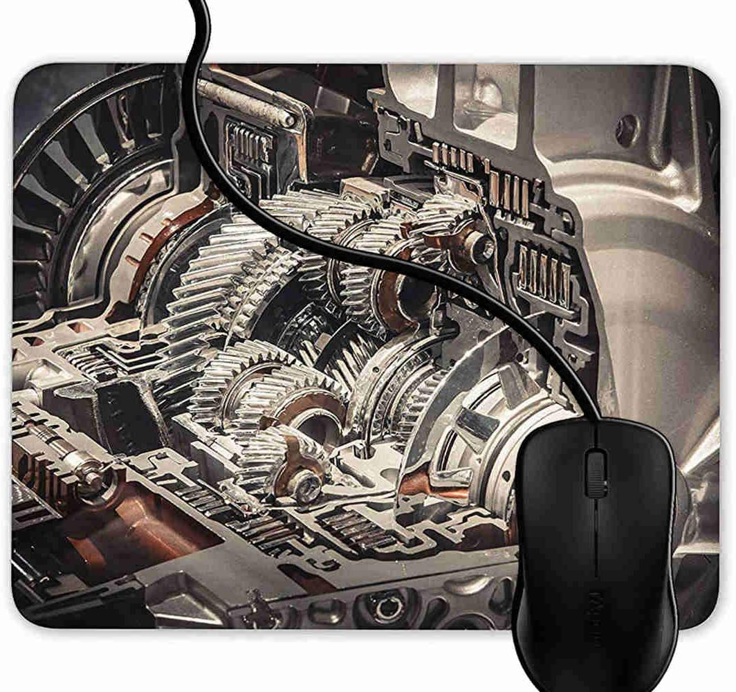 PC and Laptops 1F930 Computer Mouse Pad Gaming Jet Turbine Engineering Machining,9.25X7.75 inch Non-Slip Rubber Mousepad Mat for Desktops