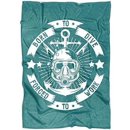 Amazon.com: TUCSTORE Born to Dive Soft Fleece Throw Blanket ...