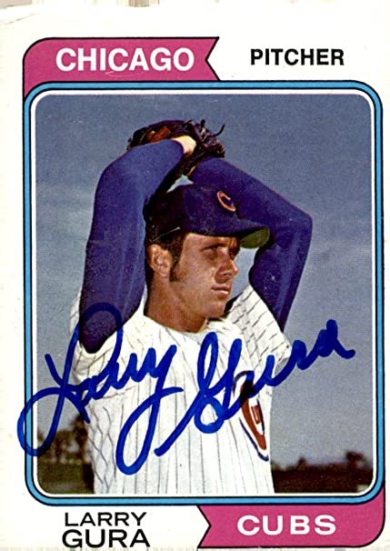 6635a8603 Amazon.com  LARRY GURA CHICAGO CUBS SIGNED 1974 TOPPS BASEBALL CARD ...