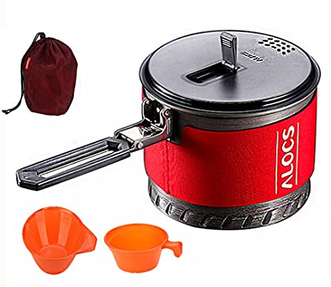 f0b1223c26c9 Amazon.com : Camping Cookware Kit for 1to 2 People - 4-In-1 Portable ...