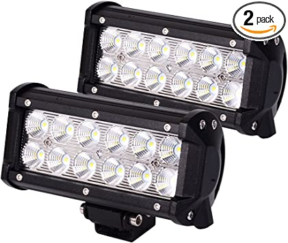Amazon Com Jahurd 12 Volt Led Trailer Lights 6 5inch Led Light Bar 36w 2packs Super Bright Led Flood Lights Offroad Led Fog Light Boat Suv Motorcycle Atv Automotive