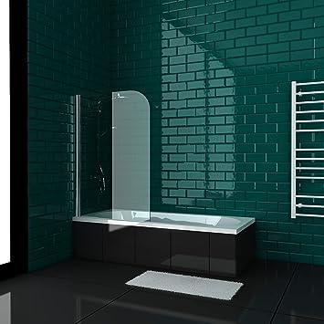 Alpenberger Symmetric - Bañera (170 x 80/180 x 80 cm, con mampara de ducha, nanorrevestimiento de