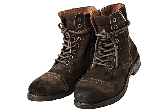 Replay Mens Leather Shoes, Men Donald Botines, Botas, Talla 41-45: